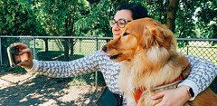 A Girl And Her Dog (Bill Binns) Tags: dogs dogpark summer montreal moustique leo angie goldenretriever