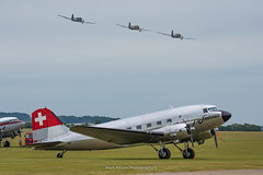 Swissair DC-3C N431HM (Mark_Aviation) Tags: swissair dc3c n431hm dc3 brother daks over duxford event celebrating 75th anniversary dday 3ship dakotas placid lassie aces high thats all normandy iwm egsu airshow airplane aircraft c47 museum