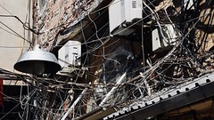 159-208 (mjlockitt) Tags: photojournal engineering messy istanbul electrical lights wires