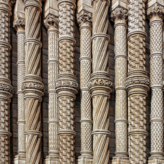 Terracotta Pillars (Joseph Pearson Images) Tags: building architecture abstract london nuralhistorymuseum terracotta facade square