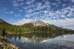 Burstall Pass (Canon Queen Rocks (3,000,000 + views)) Tags: reflections water sky scenery scenic mountains momentsbycelinecom mothernature trees calm alberta burstallpass landscape lake landscapes lakes clouds bluesky blues grass greens naturephotography kananaskis rockies