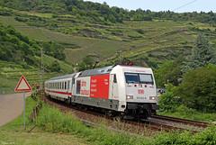 """101 063 """"Visit Dessau"""" mit einem IC bei Oberwesel, 05.06.2019 (-cg86-) Tags: bauhaus dessau werbelok br101 db deutschebahn fernverkehr intercity ic eurocity eisenbahn rheinstrecke rheintal rhein"""