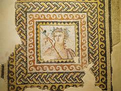 dionysos büstü mozaiği / mosaic of bust of dionysos