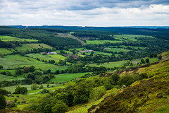 The Lush Green Moors Valley from Young Ralphs Cross (Geordie_Snapper) Tags: blakeyridge canon2470mm cloudywithsomesun coldday june landscape moors northyorkshiremoors outdoors summer