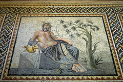 fırat nehir tanrısı euphrates /  mosaic of the river god euphrates