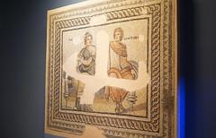 metiokhos ve parthenope mozaiği / mosaic of metiokhos and parthenope