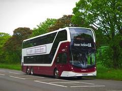 Lothian Buses 1064 (SJ19OVX) - 31-05-19 (02) (peter_b2008) Tags: lothianbuses lothiancity edinburgh volvo b8l alexanderdennis adl enviro400lxb 1064 sj19ovx triaxle buses coaches transport buspictures