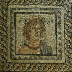 bahar tanrıçası ear mozaiği / mosaic of goddess of spring ear