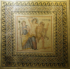 dionysos, telete ve skyrtos mozaiği / mosaic of dionysos, telete and skyrtos
