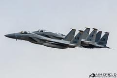 2xMcDonnell Douglas F-15C Eagle & McDonnell Douglas F-15 E Strike Eagle - United States Air Force (Aimeric D. Photographies) Tags: f22 fihter aircraft avion plane spotter riat fairford usaf meeting aérien aerien air pilot take off landing