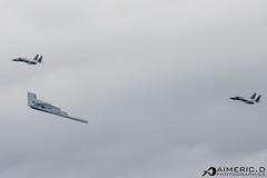 Northrop B-2 Spirit & 2 x McDonnell Douglas F-15C Eagle - United States Air Force (Aimeric D. Photographies) Tags: f22 fihter aircraft avion plane spotter riat fairford usaf meeting aérien aerien air pilot take off landing