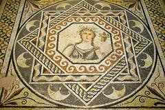gaia / bereket tanrısı demeter mozaiği / mosaic of priapus god demeter
