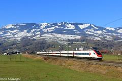 Serpent Suisse (Lion de Belfort) Tags: train chemin de fer montagne neige suisse alpes alps schweiz schwytz steinen gotthard gothard cff ffs sbb rabde 500