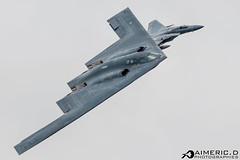 Northrop B-2 Spirit & McDonnell Douglas F-15C Eagle - United States Air Force (Aimeric D. Photographies) Tags: f22 fihter aircraft avion plane spotter riat fairford usaf meeting aérien aerien air pilot take off landing