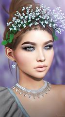 Berry Royal (Neva Valon) Tags: foxy sl secondlife portrait avatar virtual virtualworld virtuallife berry berries crown tiara closeup face blog blogger secondlifeblog pumec emarie nanika ariskea letre