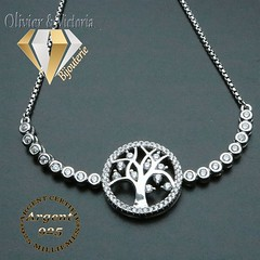 Bracelet chemin vers l'arbre de vie en argent 925 (olivier_victoria) Tags: argent 925 zircon bracelet rond chemin arbre vie de cercles portebonheur bonheur brillants