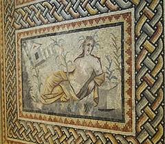 fırat'ın genç nehir tanrısı / mosaic of young god of the river euphrates