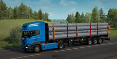 (gripshotz) Tags: scania r440 schwarzmuller log trailer pipes euro truck simulator ets 2