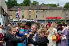 XPRO7014-1 Brighouse 1940's weekend June 1st 2019 (Lawrence Holmes.) Tags: fuji xpro1 xf1855mmf284rlmois streetphotography street brighouse brighouse1940sweekendjune1st2019 brighouse1940sweekend nostalgia ww2 fashion dancing calderdale westyorkshire uk lawrenceholmes