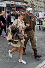 XPRO7043-1 Brighouse 1940's weekend June 1st 2019 (Lawrence Holmes.) Tags: fuji xpro1 xf1855mmf284rlmois streetphotography street brighouse brighouse1940sweekendjune1st2019 brighouse1940sweekend nostalgia ww2 fashion dancing calderdale westyorkshire uk lawrenceholmes