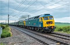 47749 + 47727. Eaton Lane. (Alan Burkwood) Tags: ecml eatonlane retford gbrf 47749 47727 1z48 scarboroughipswich gbrfstaffouting diesel locomotive passenger train