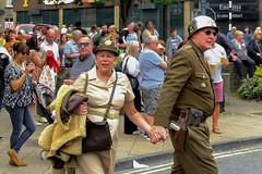 XPRO7092-1 Brighouse 1940's weekend June 1st 2019 (Lawrence Holmes.) Tags: fuji xpro1 xf1855mmf284rlmois streetphotography street brighouse brighouse1940sweekendjune1st2019 brighouse1940sweekend nostalgia ww2 fashion dancing calderdale westyorkshire uk lawrenceholmes