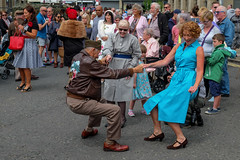 XPRO7007-1 Brighouse 1940's weekend June 1st 2019 (Lawrence Holmes.) Tags: fuji xpro1 xf1855mmf284rlmois streetphotography street brighouse brighouse1940sweekendjune1st2019 brighouse1940sweekend nostalgia ww2 fashion dancing calderdale westyorkshire uk lawrenceholmes