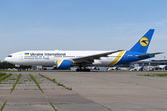 UR-GOC Ukraine International Airlines Boeing 777-28E(ER) at Kiev Boryspil International Airport on 28 May 2019 (Zone 49 Photography) Tags: aircraft airliner aeroplane may 2019 kiev kyiv ukraine boryspil international kbp ukbb ps aui airlines boeing 777 772 200 28e er urgoc