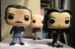 Gomez and Morticia Addams with Uncle Fester 0591 (Brechtbug) Tags: gomez with morticia addams uncle fester funko pop figure halloween family big head figures vinyl tv series from 1965 1960s charles chas cartoon cartoonist eccentric island lost souls holiday evil mad scientist creature vamp man monsters toy toys bobble heads 2019 june