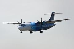 ES-ATA Nordica ATR 72-600 EGNX 15/5/19 (David K- IOM Pics) Tags: es esata nordica atr atr72 72 72600 at76 flybe egnx ema east midlands airport