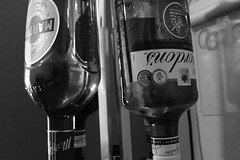 Optical (Christian_Davis) Tags: martini gordons gin bottles optics bar aperitif glass alcohol alcoholic x100f fujifilm acros black white