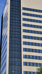 Blue skyscrapper (rozwadowski44) Tags: blue design construction building outside łódź poland