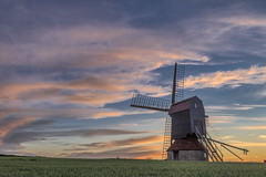 Stevington Windmill (sho5572) Tags: pink blue sunset summer windmill field june clouds outdoors countryside nikon flickr outdoor bedfordshire wideangle fields stevington landscape visitengland visitbritain beautiful scenic uk landscapephotography