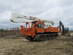 Hydro One 597-119 PowerTraxx 18-H Tracked Vehicle with 827-153 Altec Aerial Device (Gerald (Wayne) Prout) Tags: hydroone597119powertraxx18htrackedvehicle 827153altecaerialdevice hydroone 597119 powertraxx 18h tracked vehicle 827153 altec aerial device jobsite highway101west bristoltownship cityoftimmins northeasterontario canada prout geraldwayneprout canon canonpowershotsx60hs powershot sx60 hs digital camera photographed photography equipment machine machinery highvoltagelines hydropoles utilitypoles highway 101 west city timmins northernontario northern northeastern utilityvehicle trackedvehicle bristol township
