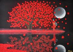赤い秋 - Red Autumn (清水みのり - Artist) Tags: minorishimizu風 kyoorigami origami art japan japanese autumn rosso red 清水みのり 京おりがみ 折り紙 おりがみ 日本画 秋 赤 紅葉 maple