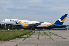 UR-AZD Azur Air Ukraine Boeing 767-33A(ER) at Kiev Boryspil International Airport on 28 May 2019 (Zone 49 Photography) Tags: aircraft airliner aeroplane may 2019 kiev kyiv ukraine boryspil international kbp ukbb qu utn azur air boeing 767 763 300 33aer urazd