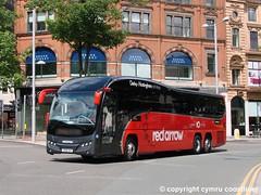 24 hours Derby   Nottingham non-stop (Cymru Coastliner) Tags: trentbarton volvob11r plaxtonelite 87 yx65zht bus coach nottingham redarrow wellglade triaxle