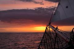 Aufbruch in die Nacht (herberthowe) Tags: ostsee sonnenuntergang abendstimmung abendhimmel abendlicht segeln segelschiff meer