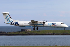 G-FLBA (Harvey's Aviation Images) Tags: gflba 4253 bombardier dash8 q400 flybe egns iom ronaldsway airport isleofman