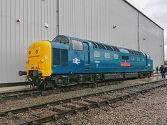 A Simple Desultory Deltic (JohnGreyTurner) Tags: cheshire diesel crewe depot 2019 uk train br display transport engine rail railway exhibition locomotive limited services openday lsl 55 deltic class55