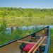 Canoeing on Lake Alice, Minnesota