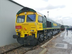 Moist RM (JohnGreyTurner) Tags: cheshire diesel crewe depot 2019 uk train br display transport engine rail railway exhibition locomotive limited services openday lsl shed 66 fred freightliner class66