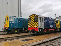 Damp Duet (JohnGreyTurner) Tags: crewe diesel depot cheshire 2019 08 class shunter gronk 20 class20 chopper ee1 type1 english electric br rail uk railway train transport locomotive services limited lsl engine display exhibition openday