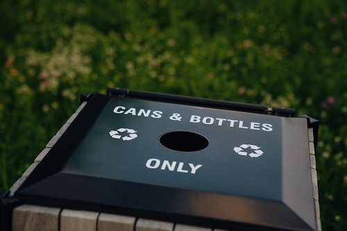 Cans and Bottles Only - Recycling Trash Bin