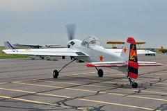Yakovlev YAK-55M c/n 920401, N55MY, WarBird Aircraft & Car Show, Front Range Airport, Watkins, CO, 28 July 2018. (skyhawkpc) Tags: 2018 kftg ftg frontrangeairport watkins colorado co nikon allrightsreserved garyverver copyright yakovlev yak55m 920401 n55my aviation airplane aircraft airshow yakdriver