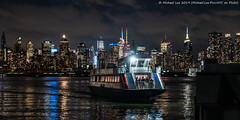 Night Ferry (20190606-DSC05352) (Michael.Lee.Pics.NYC) Tags: newyork newjersey weehawken ferry newyorkwaterway portimperial hudsonriver midtownmanhattan timessquare night reflection boat architecture cityscape sony a7rm2 fe24105mmf4g