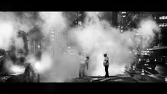 (Nico Geerlings) Tags: ngimages nicogeerlings nicogeerlingsphotography nightphotography steam streetphotography 42ndstreet roadwork roadconstruction manhattan midtown newyorkcity nyc ny usa