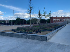 ONGOING DEVELOPMENT AND RENEWAL AT BROADSTONE [NEAR THE LUAS TRAM STOP]-152964 (infomatique) Tags: red broadstone luas tramstop publictransport streetphotography streetsofdublin williammurphy infomatique fotonique apple iphone xr areasofdublin urbanrenewal