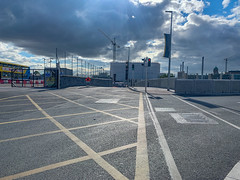 ONGOING DEVELOPMENT AND RENEWAL AT BROADSTONE [NEAR THE LUAS TRAM STOP]-152944 (infomatique) Tags: red broadstone luas tramstop publictransport streetphotography streetsofdublin williammurphy infomatique fotonique apple iphone xr areasofdublin urbanrenewal