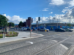 ONGOING DEVELOPMENT AND RENEWAL AT BROADSTONE [NEAR THE LUAS TRAM STOP]-152936 (infomatique) Tags: red broadstone luas tramstop publictransport streetphotography streetsofdublin williammurphy infomatique fotonique apple iphone xr areasofdublin urbanrenewal